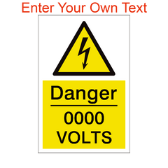 Custom Volts Sign | PVC Safety Signs | Health and Safety Signs