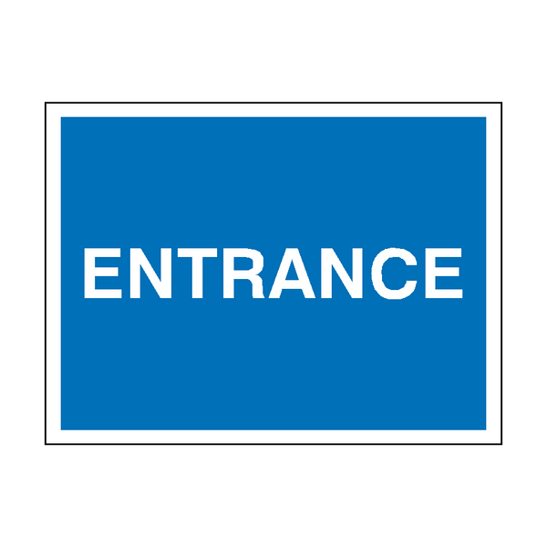 Entrance Traffic Sign | PVCSafetySigns.co.uk