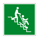 Evacuation Chair Symbol Sign - PVC Safety Signs