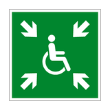 Evacuation Temporary Refuge Symbol Sign - PVC Safety Signs