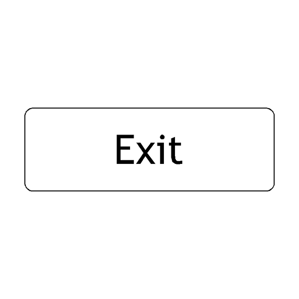 Exit Door Sign | PVC Safety Signs