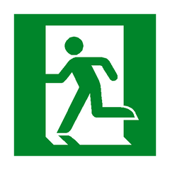 Running Man Left Sign - PVC Safety Signs | Safety Signs Specialists