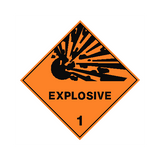 Explosive Sign | PVC Safety Signs | Health and Safety Signs