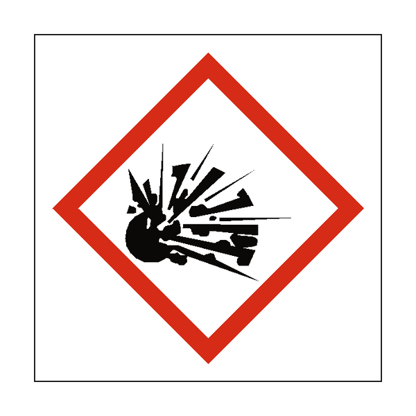 Explosive COSHH Sign | PVC Safety Signs