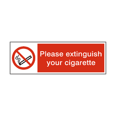 Please Extinguish Your Cigarette Sign | PVC Safety Signs | Health and Safety Signs