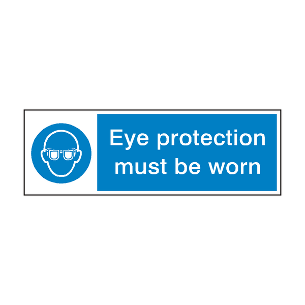 Eye Protection Sign - PVC Safety Signs