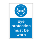 Eye Protection Mandatory Sign - PVC Safety Signs