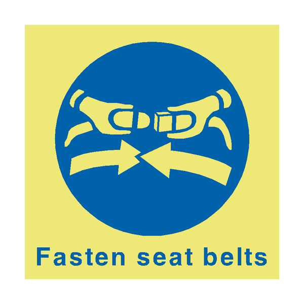 Fasten Seat Belts Marine Sign | PVC Safety Signs