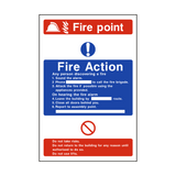 Fire Action Fire Point Sign | PVCSafetySigns.co.uk