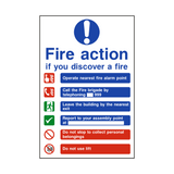 Fire Action Lift & Telephone Sign | PVCSafetySigns.co.uk