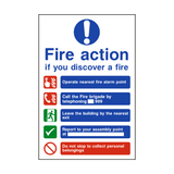 Fire Action Non-Lift Telephone Sign | PVCSafetySigns.co.uk