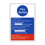 Fire Action Notice Version 1 | PVCSafetySigns.co.uk
