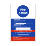 Fire Action Notice Version 2 | PVCSafetySigns.co.uk