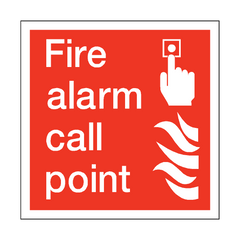 Fire Alarm Call Point Square Sign | PVC Safety Signs | Health and Safety Signs