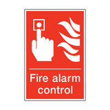 Fire Alarm Control Sign | PVCSafetySigns.co.uk