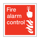 Fire Alarm Control Square Sign | PVCSafetySigns.co.uk