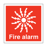 Fire Alarm Symbol Safety Sign | PVCSafetySigns.co.uk