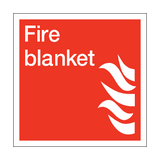 Fire Blanket Square Sign | PVCSafetySigns.co.uk