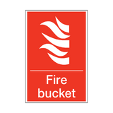 Fire Bucket Sign | PVCSafetySigns.co.uk