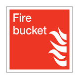 Fire Bucket Square Sign | PVCSafetySigns.co.uk