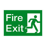 Fire Exit Running Man Right Sign - PVC Safety Signs | Safety Signs Specialists