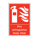 Fire Extinguisher Keep Clear Sign | PVCSafetySigns.co.uk