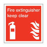Fire Extinguisher Keep Clear Square Sign | PVCSafetySigns.co.uk