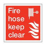 Fire Hose Keep Clear Square Sign | PVCSafetySigns.co.uk