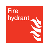 Fire Hydrant Square Sign | PVCSafetySigns.co.uk