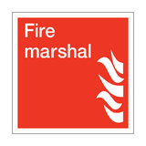 Fire Marshal Square Sign | PVCSafetySigns.co.uk