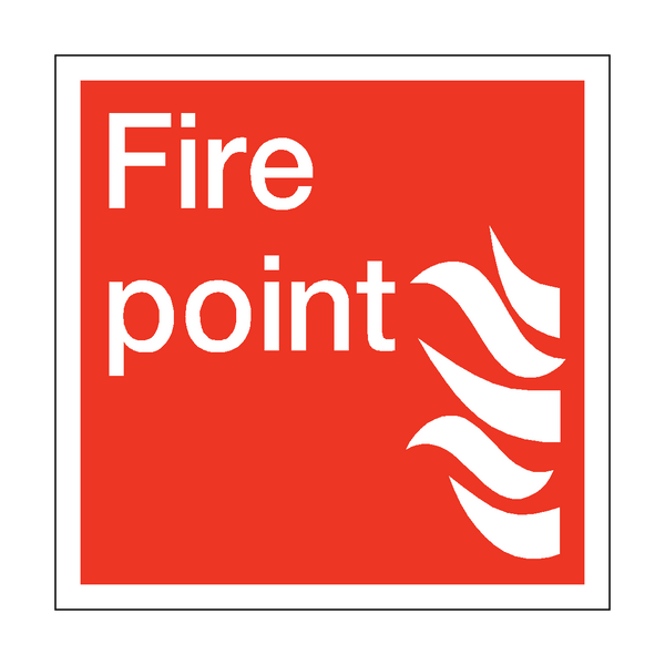 Fire Point Square Sign | PVC Safety Signs