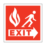 Fire Safety Exit Square Sign | PVC Safety Signs