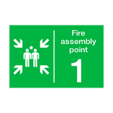 Fire Assembly Point One Sign | PVCSafetySigns.co.uk