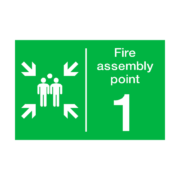 Fire Assembly Point One Sign - PVC Safety Signs