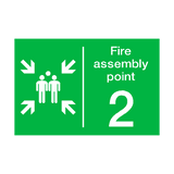 Fire Assembly Point Two Sign | PVC Safety Signs