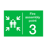 Fire Assembly Point Three Sign | PVC Safety Signs