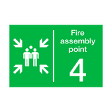 Fire Assembly Point Four Sign | PVC Safety Signs
