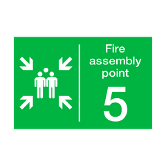 Fire Assembly Point Five Sign