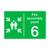 Fire Assembly Point Six Sign | PVCSafetySigns.co.uk