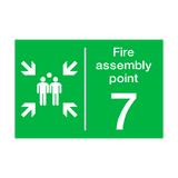 Fire Assembly Point Seven Sign | PVCSafetySigns.co.uk