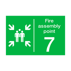 Fire Assembly Point Seven Sign | PVC Safety Signs | Health and Safety Signs