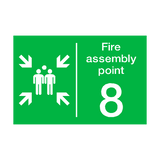 Fire Assembly Point Eight Sign | PVCSafetySigns.co.uk