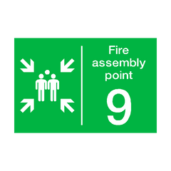 Fire Assembly Point Nine Sign | PVC Safety Signs | Health and Safety Signs