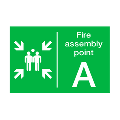 Fire Assembly Point A Sign | PVC Safety Signs | Health and Safety Signs