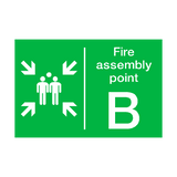 Fire Assembly Point B Sign | PVCSafetySigns.co.uk