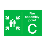 Fire Assembly Point C Sign | PVCSafetySigns.co.uk