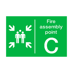 Fire Assembly Point C Sign | PVC Safety Signs | Health and Safety Signs