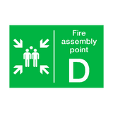 Fire Assembly Point D Sign | PVCSafetySigns.co.uk