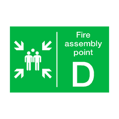 Fire Assembly Point D Sign | PVC Safety Signs | Health and Safety Signs