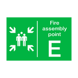 Fire Assembly Point E Sign | PVCSafetySigns.co.uk